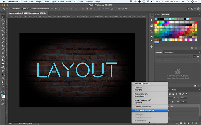 How to create a neon glow effect in Photoshop | Layout
